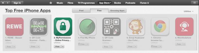 Top Free Apps iOS Germany edit